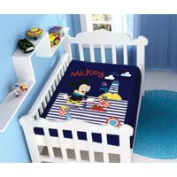 Cobertor Disney Mickey Barquinho Azul Marinho Jolitex
