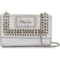 Philipp Plein Spiked Stud-Embellished Shoulder Bag - Prateado