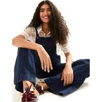 Jardineira Flare Ziper Denim Jeans