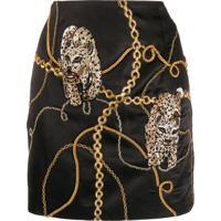 Giuseppe Di Morabito Chain Print Mini Skirt - Preto