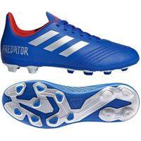 Chuteira Campo Infantil Adidas Predator 19 4 Fg Azul/Prata