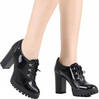 Sapato Oxford Dakota Salto Alto Preto
