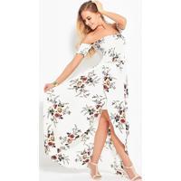 Vestidos Longos Florais Tomara Que Caia - Branco P