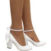 Sapato Noiva Duani Boneca Salto Grosso Confortavel Branco
