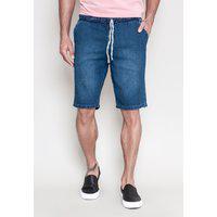 Bermuda Jeans Lermier Collection Jogging Com Elástico