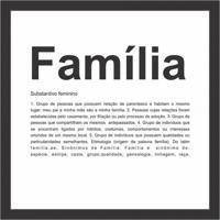 Quadro Decorativo Família Preto E Branco