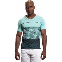 Camiseta No Stress Dipishop Com Estampa Sublimada Verde
