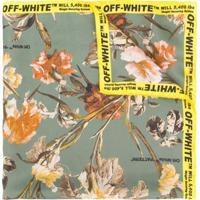 Off-White Echarpe Com Estampa Floral - Verde
