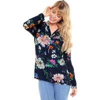 Camisa Meiling Floral Azul
