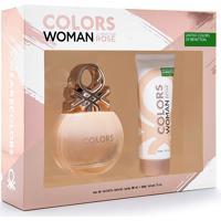 Kit Benetton Colors Rose Edt 80Ml + Body Lotion 75Ml Feminino