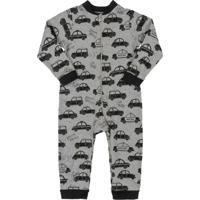 Macacão Pijama Para Bebê Menino Cinza