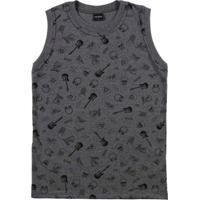 Camiseta Regata Rovitex Juvenil Para Menino - Cinza