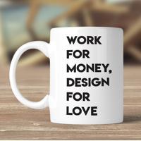 Caneca Design For Love