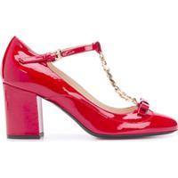 Nº21 Sapato De Couro - Vermelho