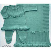 Saída Maternidade Vestido Pérolas - Verde