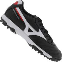 Chuteira Society Mizuno Morelia Classic As Tf - Adulto - Preto/Branco