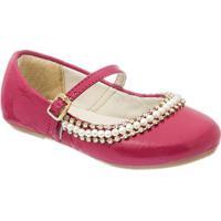 Sapato Boneca Com Strass - Pink- Luluzinhaluluzinha