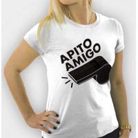 Camiseta Apito Amigo Feminina - Feminino