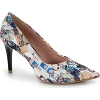 Sapato Scarpin Bico Fino Lara - Estampado