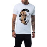 Camiseta Ukkan Terminator Wars Masculina - Masculino-Branco