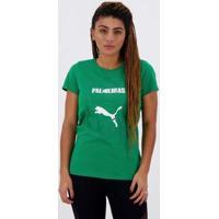 Camiseta Puma Palmeiras Graphic Feminina - Feminino