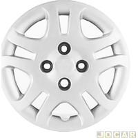 Calota Aro 14 Ford - Grid - Fiesta 2010 Até 2014 - Leia Descrição Detalhada - Fixada Com Parafuso - Prata - Cada (Unidade) - 026