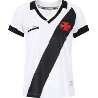 Camisa Do Vasco Da Gama Ii 2019 Diadora - Feminina - Branco
