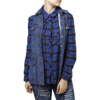 Colete Jeans Feminino - Feminino-Azul