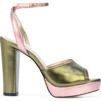 Cynthia Rowley Sapato Metálico Bicolor - Verde