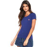 Camiseta Polo Wear Básica Azul