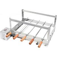 Churrasqueira Rotativa Kit Arke Inox 5 Espetos - Gbi-05