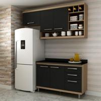 Cozinha Compacta New Vitoria 5 Pt 3 Gv Avelã Com Onix