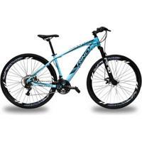 Bicicleta Rino Everest 29 Freio Hidraulico - Shimano Acera Com Trava 27V - Unissex