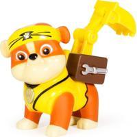 Mini Figura Com Mecanismo - Patrulha Canina - Série Heróis Karatê - Rumble - Sunny - Unissex-Incolor