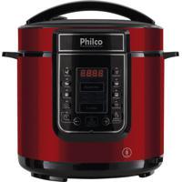 Panela De Pressão Digital Philco 6L Inox Vermelha 220V