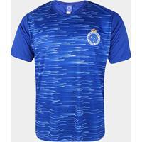 Camiseta Cruzeiro Hide Masculina - Masculino-Azul