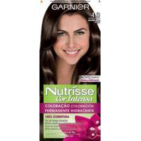 Tintura Garnier Nutrisse Cor Intensa 4.0 Castanho Médio