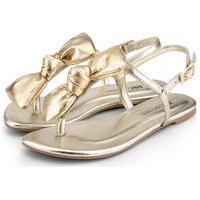Sandália Infantil Bibi Little Me Metalizado Ouro - 1104225