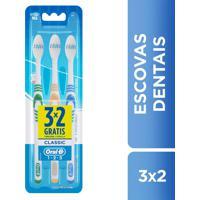 Escova Dental Oral-B Classic 1.2.3 1 Unidade