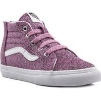 Vans Kids Sk8 Hi Zip Low-Top Sneakers - Rosa