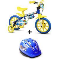 Bicicleta Nathor Shark Aro 12 Infantil Com Capacete - Unissex