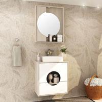 Conjunto Para Banheiro Florença I Taeda E Branco