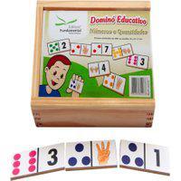 Dominó Educativo Números E Quantidades Jogo Com 28 Peças - Fundamental