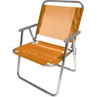 Cadeira De Praia Botafogo Varanda El Alumínio Laranja