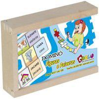 Dominó Figurinhas E Palavras - Carlu - Brinquedo Educativo