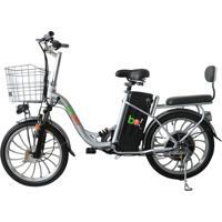 Bicicleta Elétrica Biobike, Quadro Em Aço, Modelo Urbana - Prata