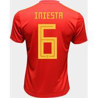 Camisa Seleção Espanha Away 2018 N° 6 Iniesta - Torcedor Adidas Masculina - Masculino