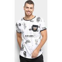 Camiseta Ecko Especial Estampada Masculina - Masculino-Branco