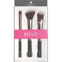 Conjunto De Maquiagem Unique Belliz - Pincéis Kit - Feminino-Incolor