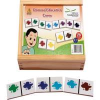 Dominó Educativo Cores Jogo Com 28 Peças - Fundamental
